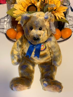 "TY Beanie Buddies CLUBBY III Bear Plush Stuffed Animal Teddy Bear NWT 14"" 2000 for Sale in McHenry, IL"