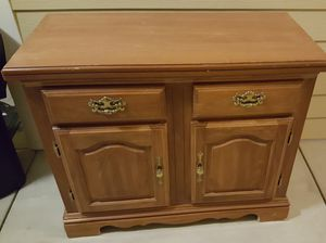 Solid wood side nightstand/cabinet for Sale in Raleigh, NC