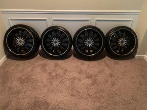 """20"""" Black Custom Strada Wheels/ Rims (Tires & TPMS Sensors Included) for Sale in Atlanta, GA"""