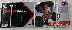 CAP 100 lb VINYL WEIGHT SET BRAND NEW PLATES AND BAR for Sale in Chicago, IL
