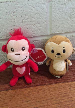 Set of two Hallmark plush Monkey toys stuffed animals Stuffies Easter basket kids baby for Sale in Las Vegas, NV