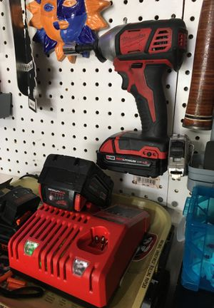 Milwaukee impact, charger and two batteries for Sale in Murfreesboro, TN