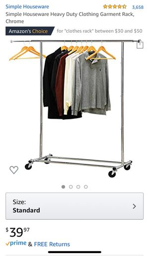 Simple Houseware Heavy Duty Clothing Garment Rack, Chrome for Sale in Foster City, CA