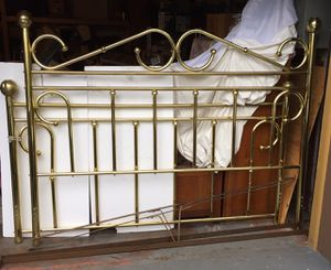 Vintage king size brass bed frame for Sale in Seattle, WA