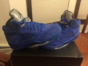 Jordan Retro 5's Blue Suede New - 10.5 for Sale in Denver, CO
