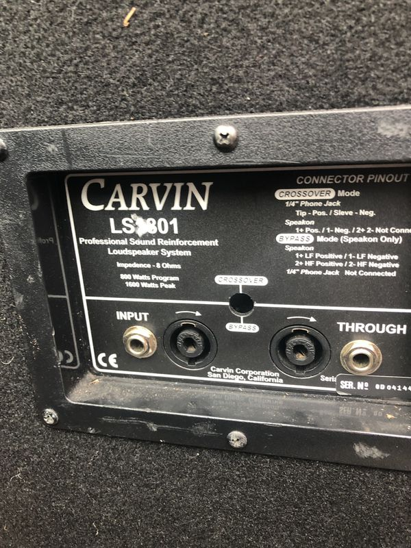 "live sound , 2 carvin 18"" and 2 yorkville 12"""
