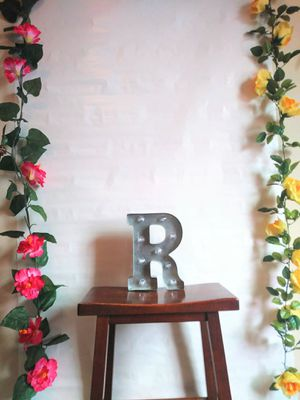 Wall Decor, Room Decor, Metal Light Up Letter R Decor for Sale in North Royalton, OH