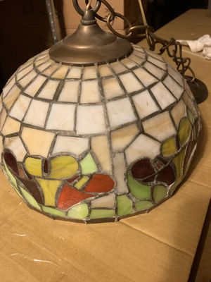 Stained glass hanging light lamp for Sale in Fresno, CA