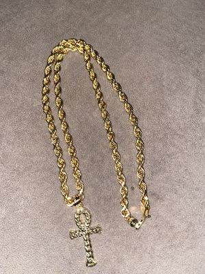 10k Hollow Gold Rope Chain for Sale in Rochester, NY