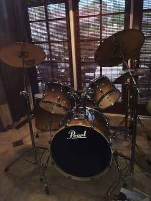 Pearl Drum Set Sabian Cymbals for Sale in Tempe, AZ