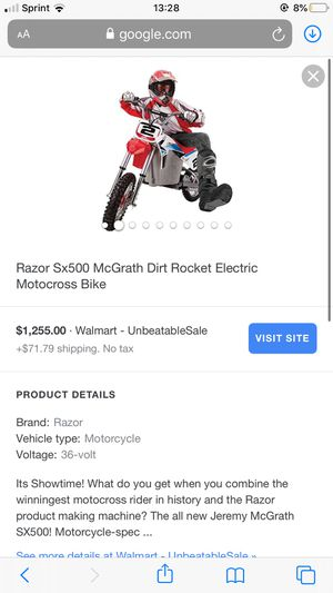 McGrath SX500 Razor Dirt Bike for Sale in Valley View, OH