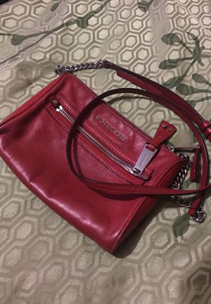 Michael Kors red leather purse for Sale in Fort Worth, TX