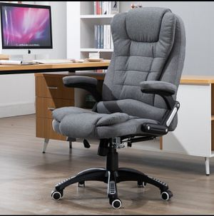 Massage Office Chair, Kealive Thick High Back Fabric Executive Computer Desk Chair, Adjustable Tilt Angle Ergonomic Reclining Chair, Rolling Swivel C for Sale in La Puente, CA