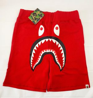BAPE Shark Sweat Shorts Color Red for Sale in Miami, FL