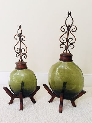 2 Decorative Jars on Pedestals for Sale in Oxon Hill, MD