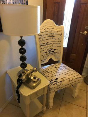 French theme chair & table for Sale in Phoenix, AZ