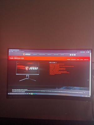 MSI Curved Monitor w/ chip, plz read though for Sale in Boston, MA