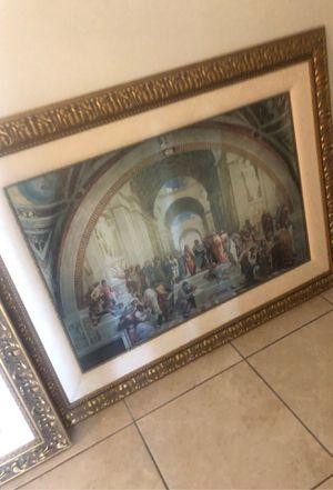 Cuadro original fino de marco buenas condiciones del señor y los apóstoles for Sale in Miami, FL
