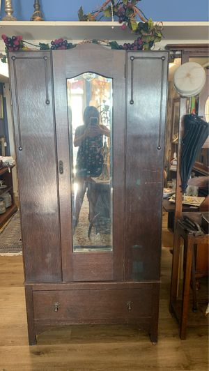 Antique wooden wardrobe/armoire for Sale in Azusa, CA
