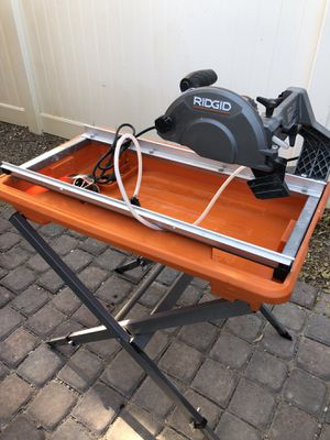 NEW RIDGID 7 in tile cutter table saw Please full read for Sale in Las Vegas, NV