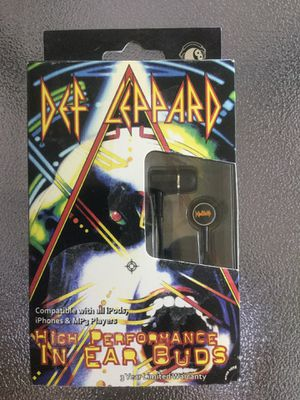 Brand New Def Leppard High Performance in ear buds for Sale in Cleveland, TN