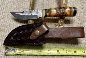 New Damascus steel blade with custom engraved bone handle for Sale in Fort Worth, TX