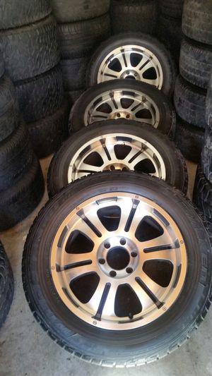 "Wheels and tires 275/55r20"" 6 lug Tahoe Silverado Yukon suburban escalade avalanche gmc in Tacoma tundra 4 runner fj cruiser 6x5,5 or 6x139,7 for Sale in Riverside, CA"