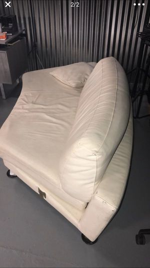 White leather couch 2 piece sectional for Sale in Miami, FL