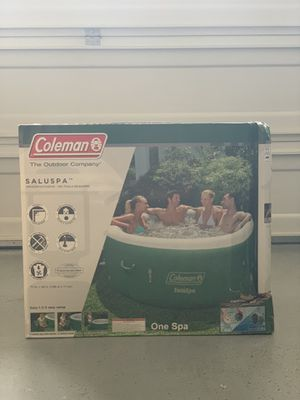 Coleman SaluSpa Inflatable Hot Tub Spa, Green & White for Sale in Hayward, CA