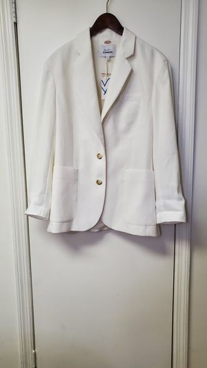 White Blazer size M for Sale in Valley Stream, NY