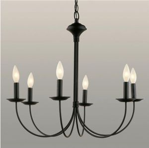 Black Metal Chandelier six light for Sale in Cleveland, OH