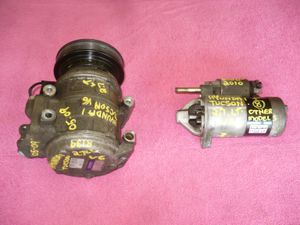 A/C Compressor ($75) & Starter ($50), 2000-2010 Hyundai Tucson, 2.7lt, V6 + remaining SUV for parts, NEW(er) all match 235x65x16 TIRES for Sale in Milford, CT