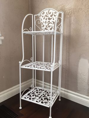 White collapsible storage shelves for Sale in Portland, OR