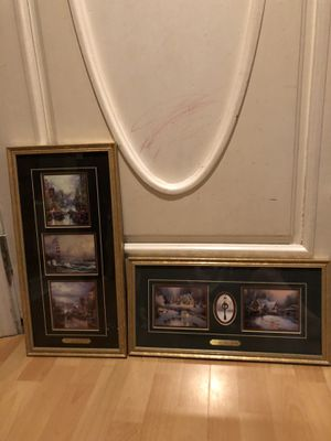 "Pair of arts by Thomas Kinkade 21""x11 and 19""x 9"" 1/2 for Sale in Atlanta, GA"