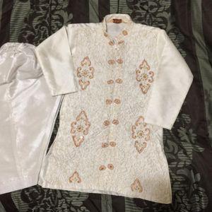 Kids Shalwar Kameez Outfit Dress eid white fancy formal dress boys toddlers for Sale in Silver Spring, MD