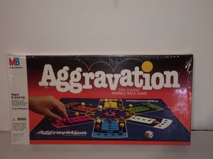 Milton Bradley AGGRAVATION Vintage Board Game STILL FACTORY SEALED! for Sale in Raleigh, NC