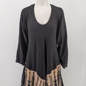 Designer Boho Tie-dye Fringe Dress Sz XL❣️Blk+Tan for Sale in Dos Palos, CA