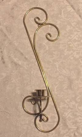 Home Interiors Swirls of Elegance wall sconce candle holder HOMCO gold metal for Sale in Phoenix, AZ