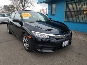 2018 HONDA CIVIC LX AUTOMATIC TRANSMISSION. ZERO DOWNPAYMENT ON APPROVED CREDIT for Sale in Modesto, CA
