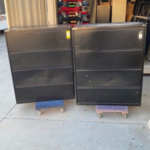 """2 Black 42"""" 4 Drawer Laterals Great for Storage/tools for Sale in Wildomar, CA"""