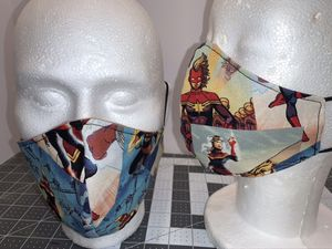 Decorative Captain Marvel Reversible & Reusable Mask for Sale in Columbus, OH