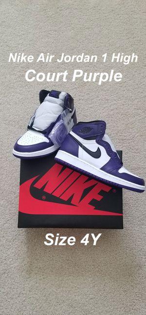 Nike Air Jordan 1 High Court Purple 4 Y for Sale in Norwalk, CA