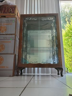 Glass Display Case/Antique Curio Cabinet for Sale in Huntington Beach, CA