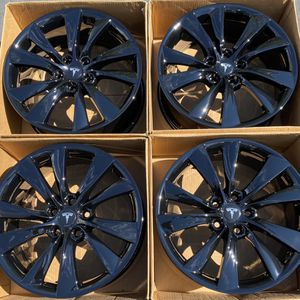 """19"""" Tesla Cyclone Model S Factory Wheels Rims Gloss Black New for Sale in Tustin, CA"""