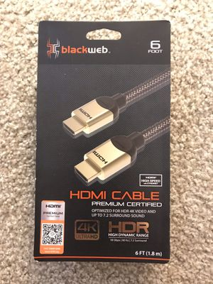 HDMI 6ft cord for Sale in Scottsdale, AZ