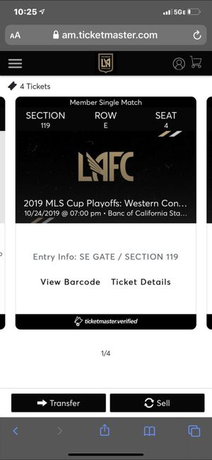 LAFC vs Galaxy tickets for Sale in Los Angeles, CA