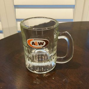 Vintage Advertising Collectible A & W baby Root Beer Mugs Small Glasses Retro Kitchen Decor oval design for Sale in Wyoming, MI