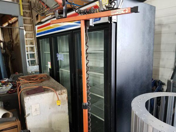 3 door commercial fridge