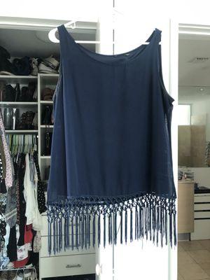Fringe blouse size large for Sale in Florida City, FL