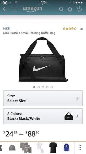2 Nike Small Duffle bags BLACK tags on them for Sale in Melrose, MA